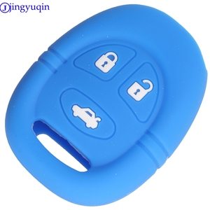 Image 3 - jingyuqin 3B Remote Car Key Silicone Cover Case For Saab 9 3 9 5 1999   2009 Holder Styling