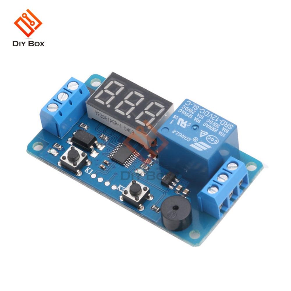 Digital Led Display Dc 12v Timer Delay Relay Module Board