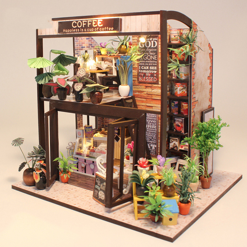 Original Genuine 3d Diy Sweet Coffee Cake Shop Flower