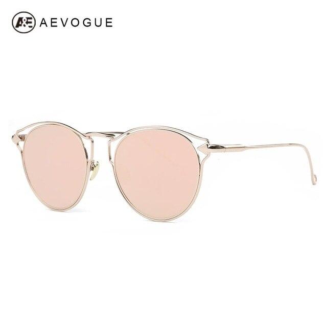 AEVOGUE Sunglasses Women Brand Designer Cat Eye Hollow Frame Newest Summer Style Single-Beam Sun Glasses UV400 With Box AE0460