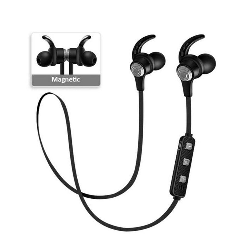 Megnetic Bluetooth 4.2 auriculares con micrófono auricular inalámbrico en el oído auriculares estéreo para el iPhone Samsung Huawei LG Andrews ios
