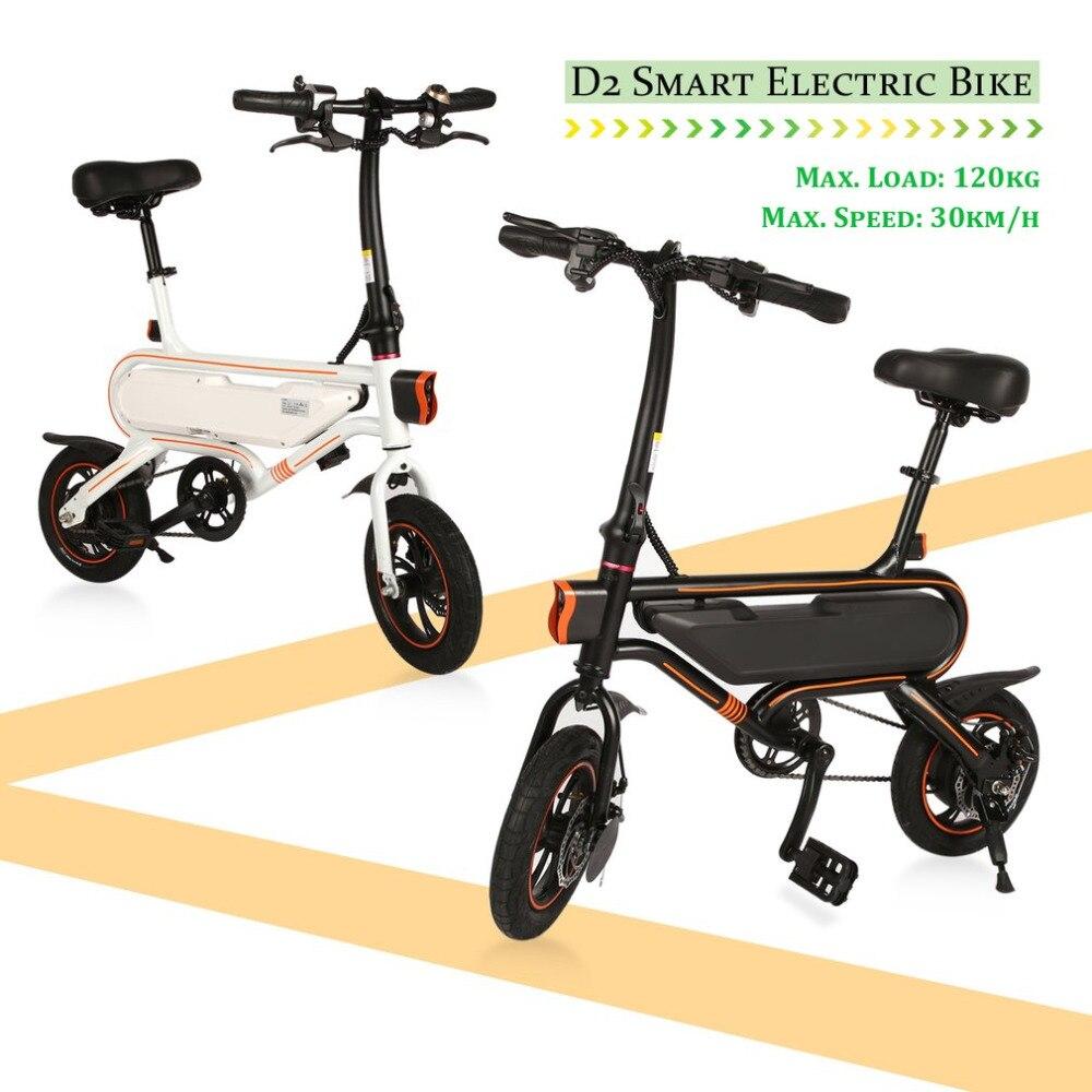 Mode D2 Smart Vélo Électrique Max. vitesse 30 km/h Pliant Mini-Vélo En Alliage D'aluminium Vélo Électrique Prise UE