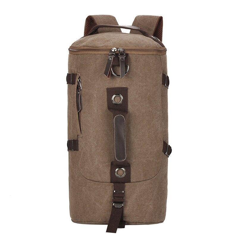 large capacity men's backpack leisure wild backpack bag military Travel bag canvas backpack