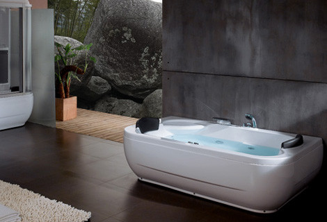 1500mm Runde Whirlpool Badewanne Acryl Hydromassage Wasserfall Doppel Menschen Badewanne Ns1106 Badezimmerarmaturen Badewannen Und Whirlpools