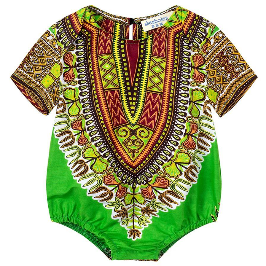 African Baby Romper Dashiki Print Kids Clothes Newborn Infant Boys Jumpsuits Children 39 s Toddler Girls Clothing Pure Cotton in Africa Clothing from Novelty amp Special Use
