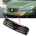 High Quality Chromed ABS Plastic Front Grill Gill Replacement Cover Trim For Suzuki S-Cross SX4 2014