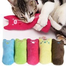 Забавная Интерактивная игрушечная сумасшедшая кошка, питомец, котенок, жевательная игрушка, зубы, кошачья мята