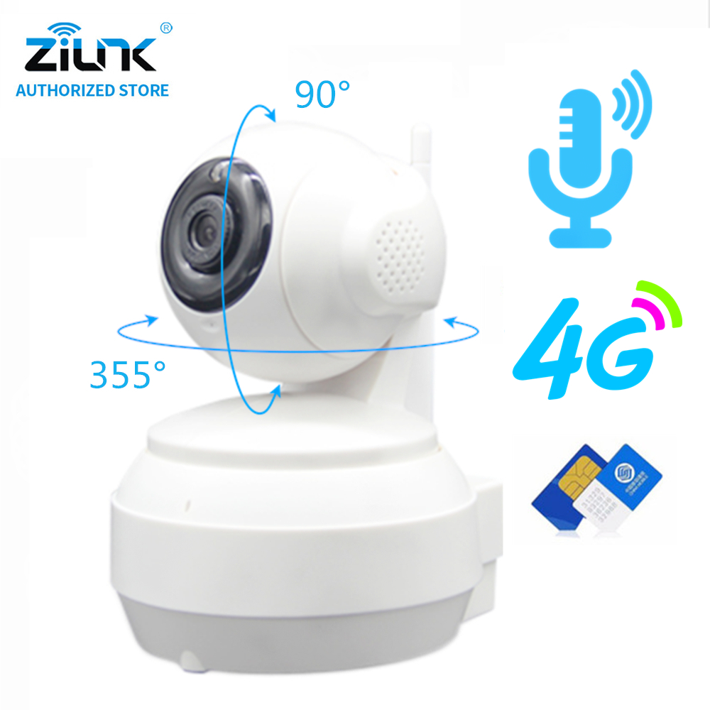 ZILNK IP Camera 3G 4G SIM Card HD 1080P 960P 720P Wireless WIFI Home Security Surveillance Video Camera P2P Network CAMHI APP