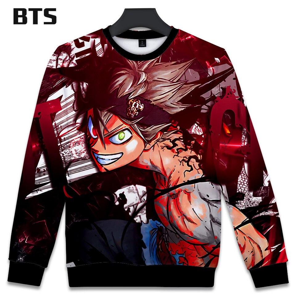 327fea9cb6b BTS 3D Black Clover Women Clothes 2018 Kawaii Hoodies Sweatshirts Printed Harajuku  Hip Hop Spring Kpop Plus Size Q0795 Q0797-in Hoodies   Sweatshirts from ...