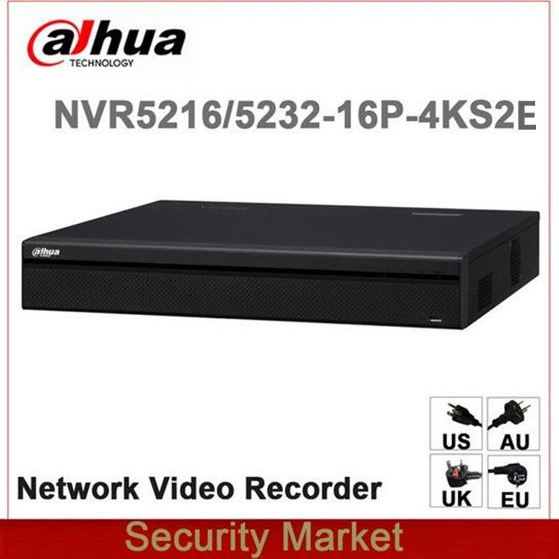 Original English Version NVR5216 16P 4KS2E NVR5232 16P 4KS2E 16PoE 4K H 265 replace NVR5216 16P