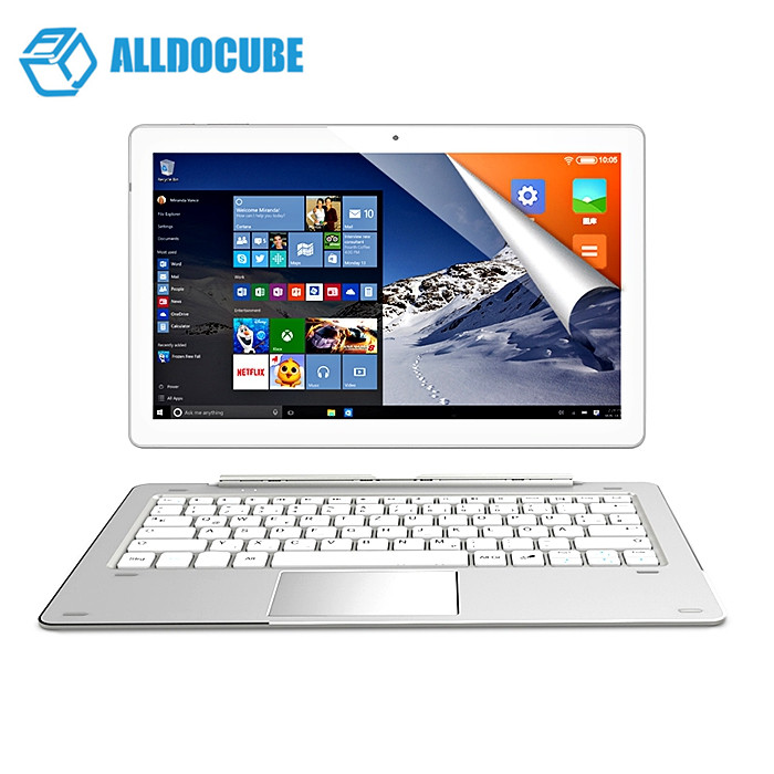 ALLDOCUBE iWork Pro 2 in 1 Tablet PC 10.1 inch Win 10 + Android 5.1 Intel Cherry Trail x5-Z8350 Quad Core 1.44GHz 4GB RAM