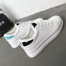 Hot fashion simple solid color front tie women sneakers 2019 new wild flat casual shoes wear non-slip womens