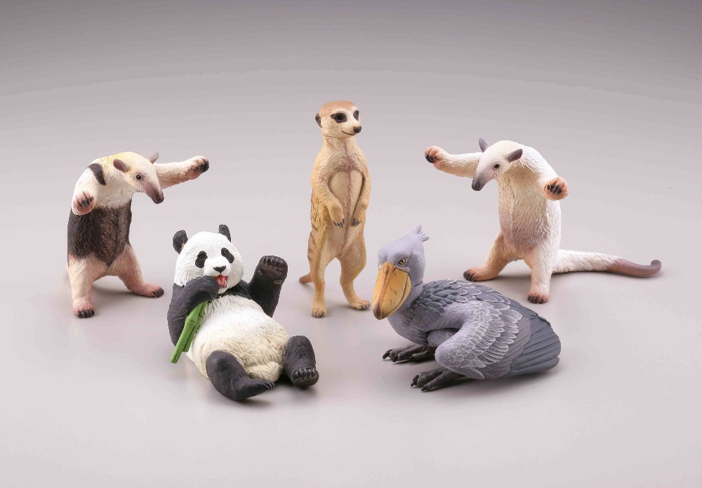 pvc figure Rare Animal Models Capsule Toys Pandas Foxes Anteaters Whale Heads toy model 5pcs/set 5pcs set simulation model toy scene decoration cowboy pvc figure rare out of print