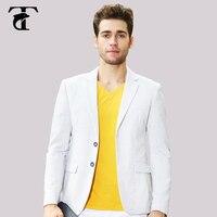 2017 leding tasarımcı malzeme Beyaz Moda Stil İki Düğme Slim Fit İş erkekler casual Suits blazer baskı çiçek astar