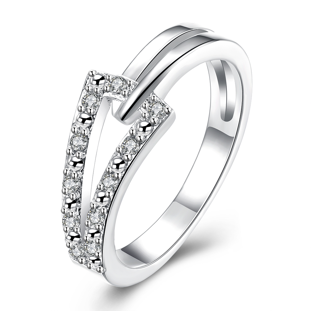 Engagement Rings On Sale Newcastle: Hot Sale Exquisite Triangle White Crystal Ring 925