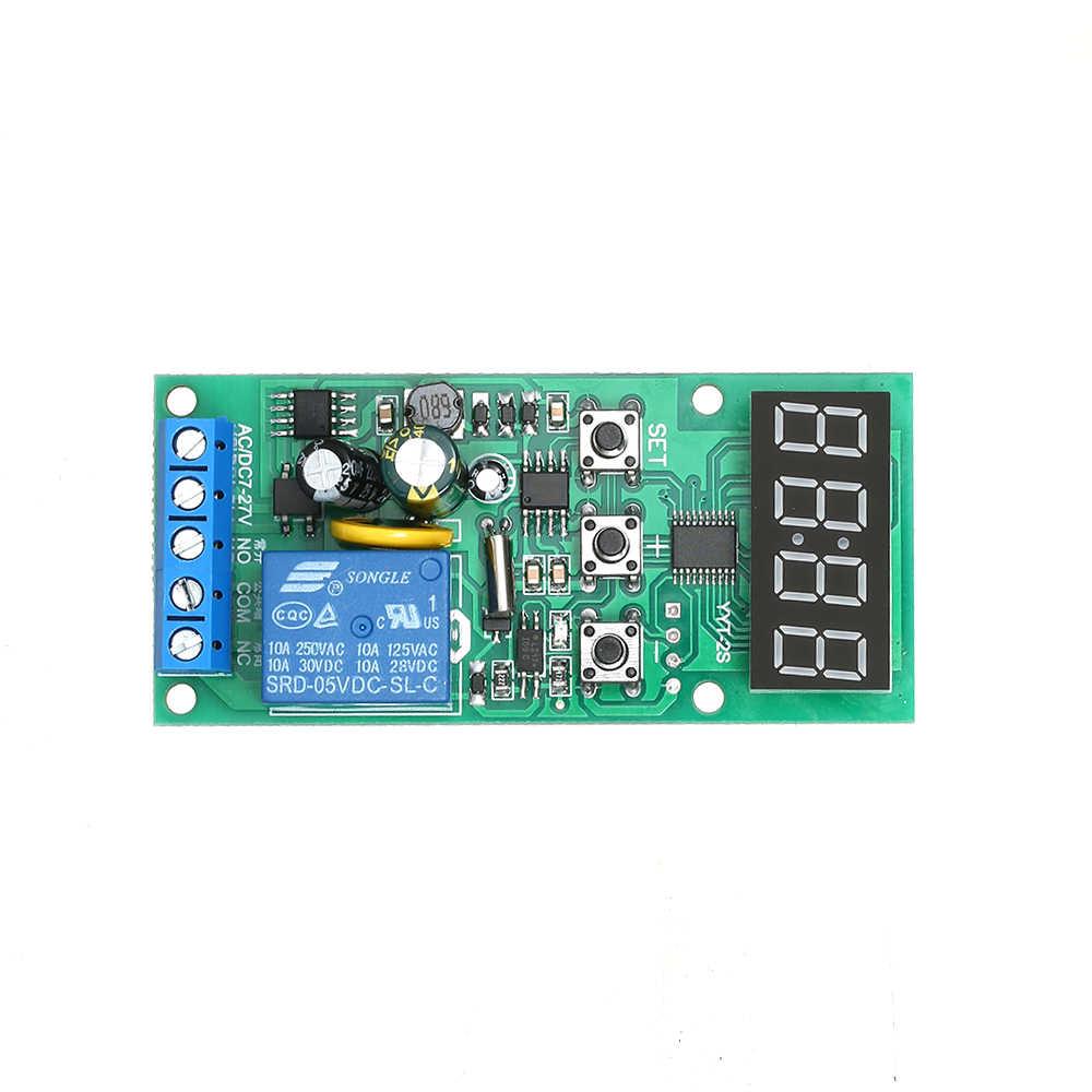 7 ~ 27 в DC/AC таймер управления часы контроллер задержки релейный модуль Широкий источник питания переключатель времени двойной дисплей модуль синхронизации
