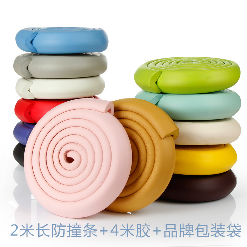 2M Baby Safety Corner Desk Guard Rubber Table Protection Kids L Shaped Soft Edge Children Care
