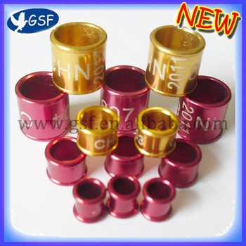 free shipping Aluminium Pigeon Ring 8mm 3mm 5mm 4.5mm free size ring