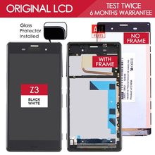 Real Size 5.2 inch 1920×1080 IPS Display For SONY Xperia Z3 LCD Touch Screen Digitizer Assembly with Frame D6603 D6653