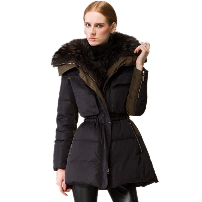 90% down coat 2018 new European real nagymaros collar down jacket womens winter great quality luxury down coat w880