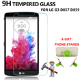 1pcs Tempered Glass for LG G3 D857 D859 Screen Protector for LG G3 D857 D859 9H 2.5D 0.33mm Screen Protective Glass Film