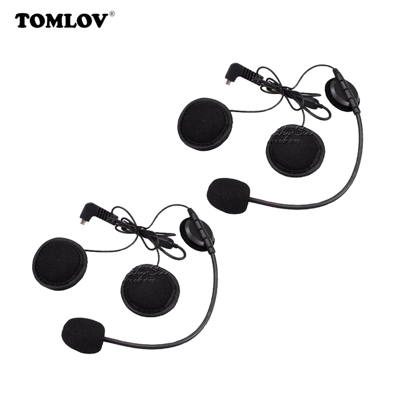 где купить 2 pcs Earpiece Microphone For BT-S2 BT-S1 Motorcycle Bluetooth Intercom Interphone Helmet Headset дешево