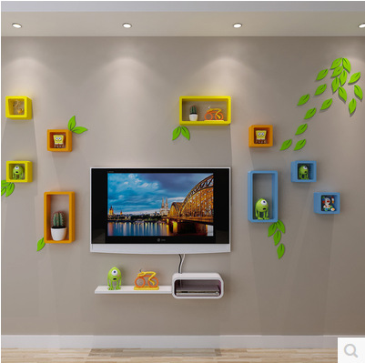 Home decor 3d hojas etiqueta de la pared decoracion hogar for Decoracion hogar 3d