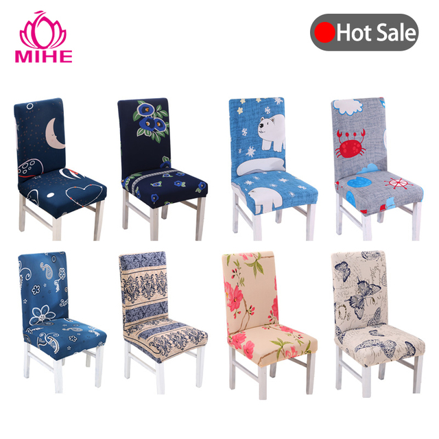 Brilliant Us 3 12 32 Off Modern Banquet Chair Cover Stretch Printed Hotel Chair Covers For Kitchen Wedding Seat Cover Dining Pastoral Chair Case Yzt04 In Short Links Chair Design For Home Short Linksinfo