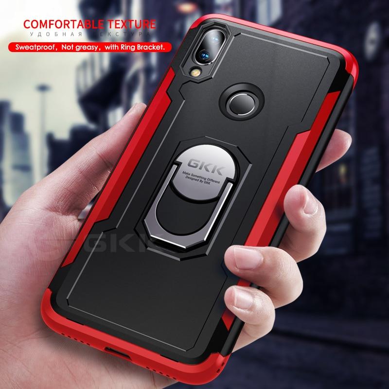 GKK Original Case for Xiaomi Redmi Note 6 7 pro Armor With Finger Ring Hard PC Soft Edge Cover