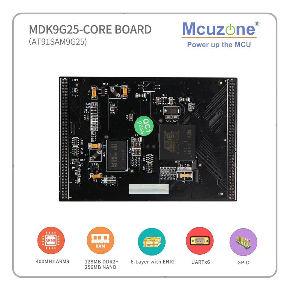 FREE SHIPPING FOR AIR MAIL! AT91SAM9G25, MDK9G25 Core Board, 400MHz CPU, 256M NAND,ISI, Ethernet, 4USART, 2UART, USB 2.0 HS