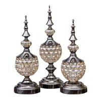 Crystal diamond glass storage tank creative decorative crafts European American home decoration home decoration accessories home