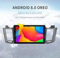 Android 8.0 stereo Head Unit For Toyota RAV4 2013 2017 Rav 4 Multimedia player Car Radio GPS Navigation 4Gb+32Gb Supports DAB+
