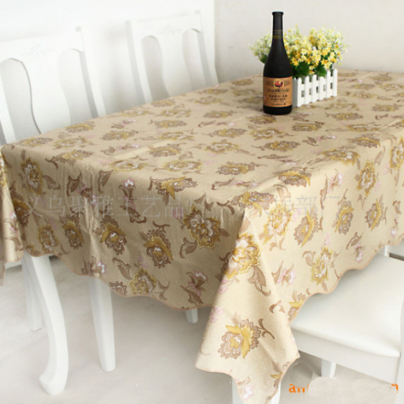 Transparent Pvc Hand Embroidery Tablecloth Ikea Wallpaper Spandex Table  Cover Shabby Chic Wedding Brown Rural Flowers  In Tablecloths From Home U0026  Garden On ...