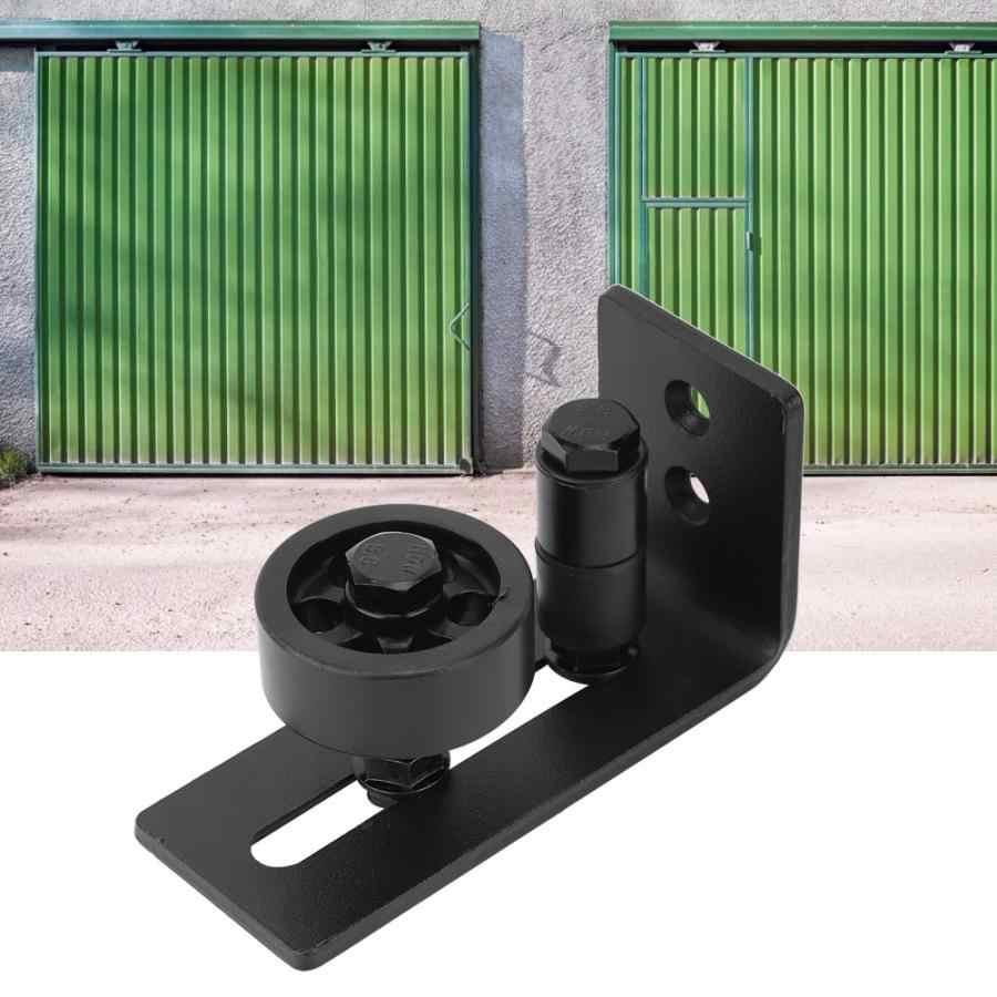 רכבת שקופיות שחור פלדה 8 מערכים שונים להישאר רולר הזזה קומה תחתונה אסם דלת קיר הר מדריך הזזה מסלול