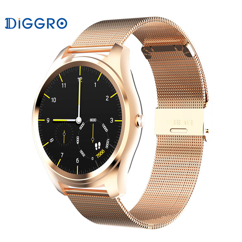 Diggro DI03 Bluetooth Smart Watch Ultra-Thin IP67 Heart Rate Pedometer Sedentary Remind Sleep Notifications For Android & IOS l 2 smart watch health metal smartwatch inteligente reloj with sleep monitoring bluetooth sedentary remind camera pedometer