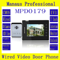 "Home 7"" LCD Screen Display Video Doorbell ,Professional Handfree intercom One to One Video Door Phone Kit Configuration D179a"