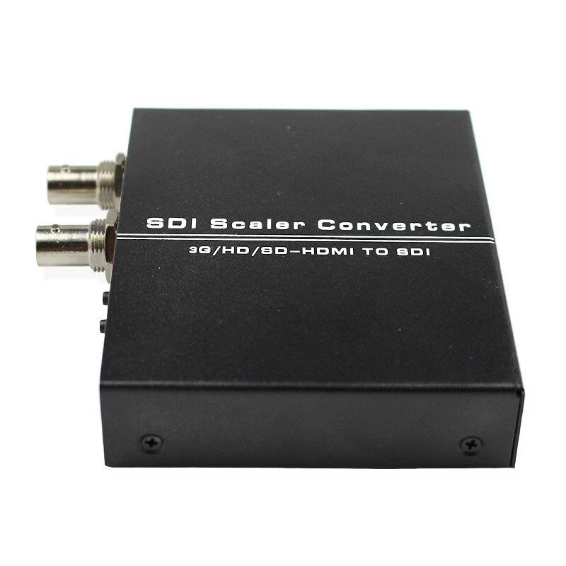 HDMI to SDI Scaler Converter 3G HD SD-HDMI to SDI Adapter HDMI2SDI with Dual SDI BNC Output 1080P for Monitor HDTV Camera CCTV