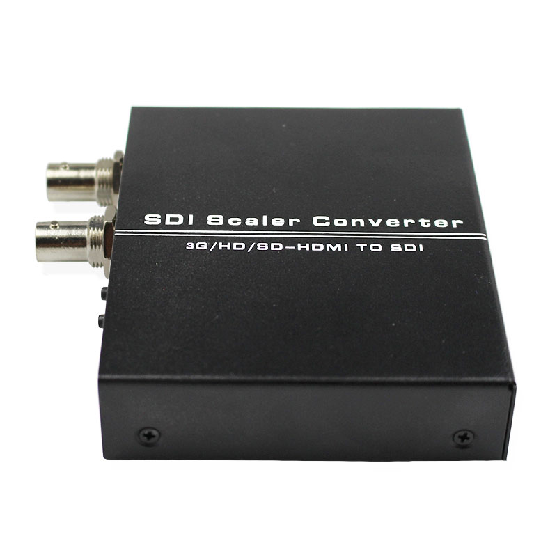 HDMI to SDI Scaler Converter 3G HD SD-HDMI to SDI Adapter HDMI2SDI with Dual SDI BNC Output 1080P for Monitor HDTV Camera CCTV aputure vs 5 7 inch sdi hdmi camera field monitor with rgb waveform vectorscope histogram zebra false color to better monitor