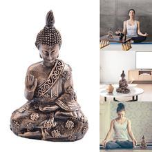 Resin Buddha Statue resin garden buddha Retro Meditation statue meditating Handmade Garden Ornament Vintage craft