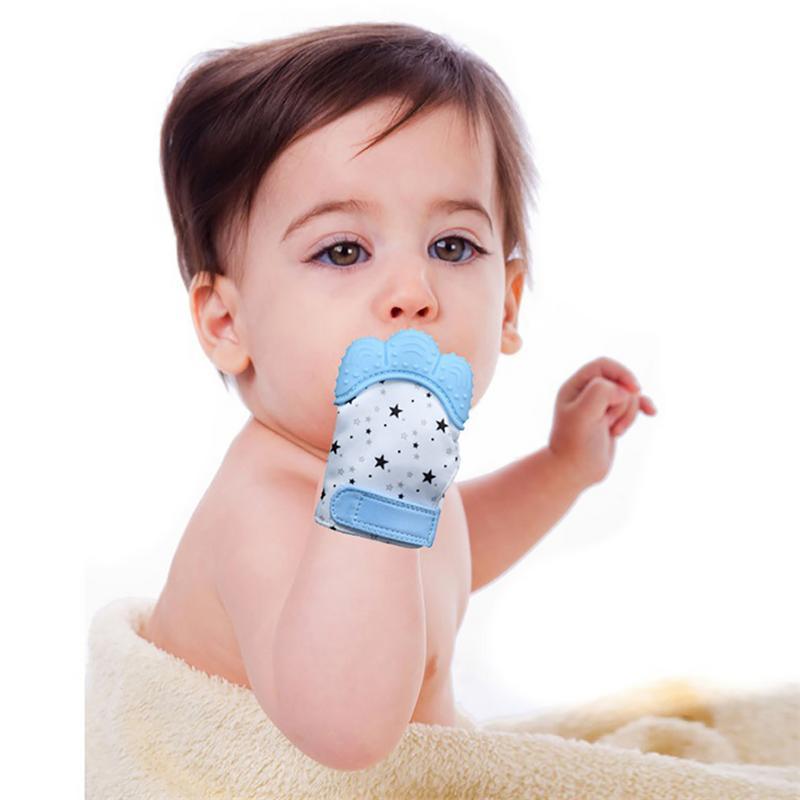 1 Stücke Silikon Beißring Baby Schnuller Handschuh Baby Zahnen Kautable Neugeborenen Pflege Handschuhe Beißring Perlen Infant Kautable Pflege Spezieller Sommer Sale