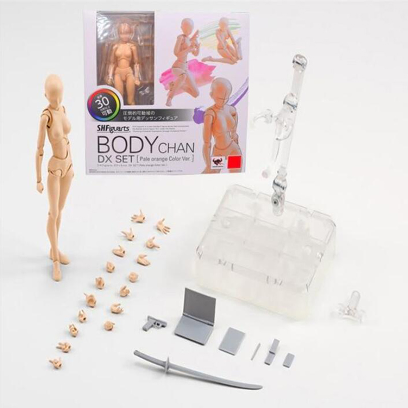 SHFiguarts BODY KUN BODY CHAN Modern Mannequins Action Figure Drawing Sketch Model With Stand For Camera Lines Stationery Set