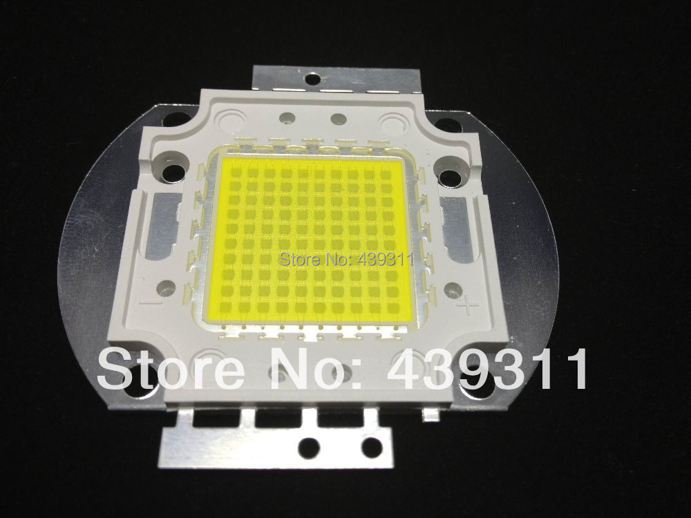 100W LED White/Warm White Integrated High power Lamp floodlight 3000mA 32.0-34.0V 10000-11000LM 45mil Chips Free shipping 10w 20w 30w 50w 100w led lights high power lamp warm white white taiwan genesis 30mil chips