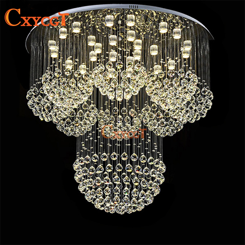 Big K9 Crystal Chandelier Lights Fixture For Hotel Lobby Modern LED Lamp  For Living Room Luster lampara AC110~240V-in Chandeliers from Lights    Lighting on ... bf3be51fc2a7