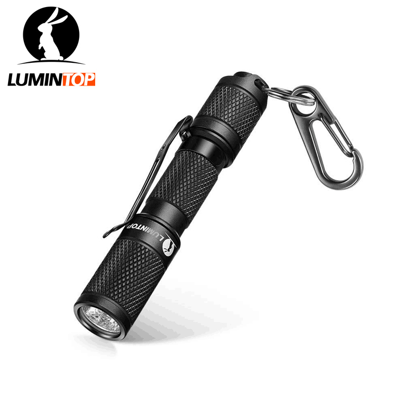 LUMINTOP Tool AAA 110 Lumen Keychain  Mini Flashlight Pocket-sized With OSRAM High Power Led IP68 Waterproof Reversible Clip