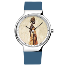 Women's Watches with African Girl Print