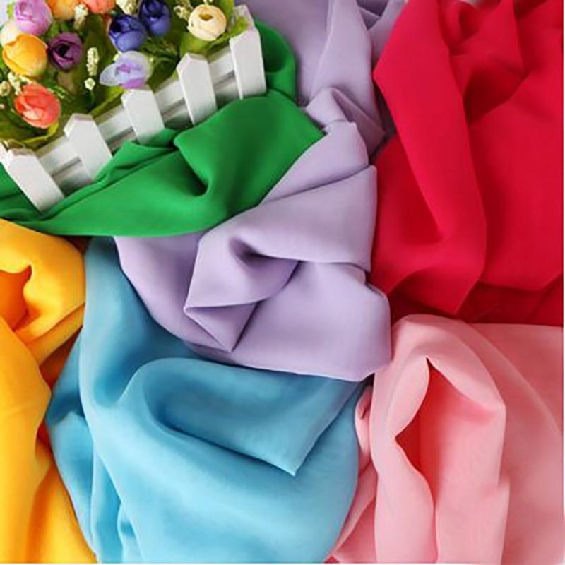 Haute qualité en mousseline de soie polyester tissu respirant pour robe nappe couture bricolage tissu quilting pour vente en gros par 50x150 cm