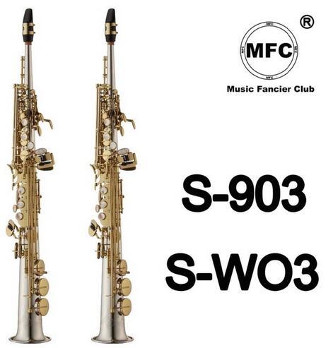 Saxophone Soprano du japon S-903 col droit S-WO3 nickelé saxo Soprano Instruments de musique professionnel inclus