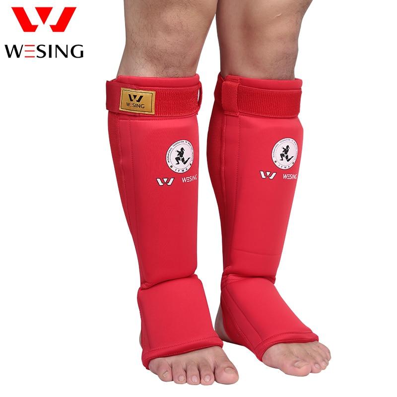 Wesing muay thai shin pads MMA Shin Instep Foam Pads Support Boxing Leg Guards Muay Thai shin guard IFMA APPROVED wesing mma shin instep guard leg pads protective muay thai shin guards boxing training kickboxing