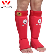 Wesing muay thai shin and instep guard eva shin pad  protector approved by IFMA for competetion цена