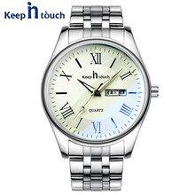 Marca de lujo de Los Hombres de Negocios de Acero Inoxidable Reloj de Cuarzo Resistente Al Agua Luminosa Montre Reloj Hombre Vestido de Hombre Reloj Hombre Relojes
